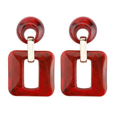 Load image into Gallery viewer, Acrylic Square Dangle Earrings