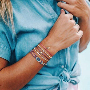 Boho Cotton Corn Bracelet Set