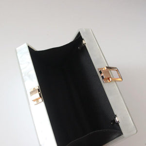 Perla Acrylic Evening Clutch