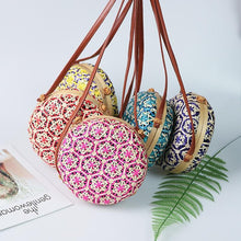 Load image into Gallery viewer, Erika Vintage Colorful Rattan Bag