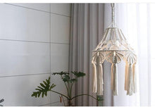 Load image into Gallery viewer, Bohemian Macrame Light Fixture Cover