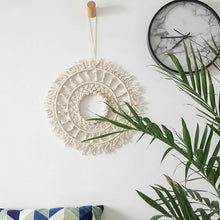 Load image into Gallery viewer, Bohemian Macrame Hand-Woven Round Art