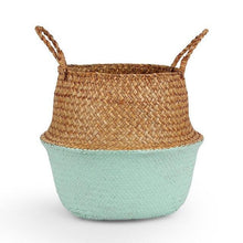 Load image into Gallery viewer, Decorative Straw Storage Basket
