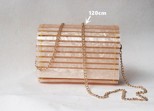 Rose Acrylic Evening Clutch