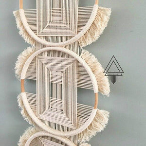 Modern Three Rings Woven Tapestry