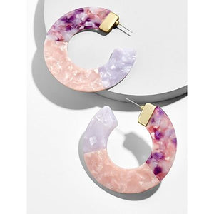 Multicolor Acrylic Round Earrings