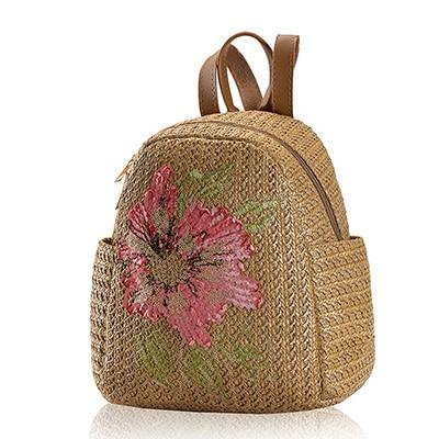 Flor Straw Backpack