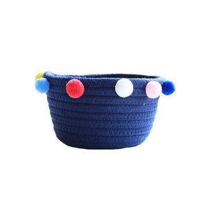 Pom Pom Cotton Rope Storage Bin