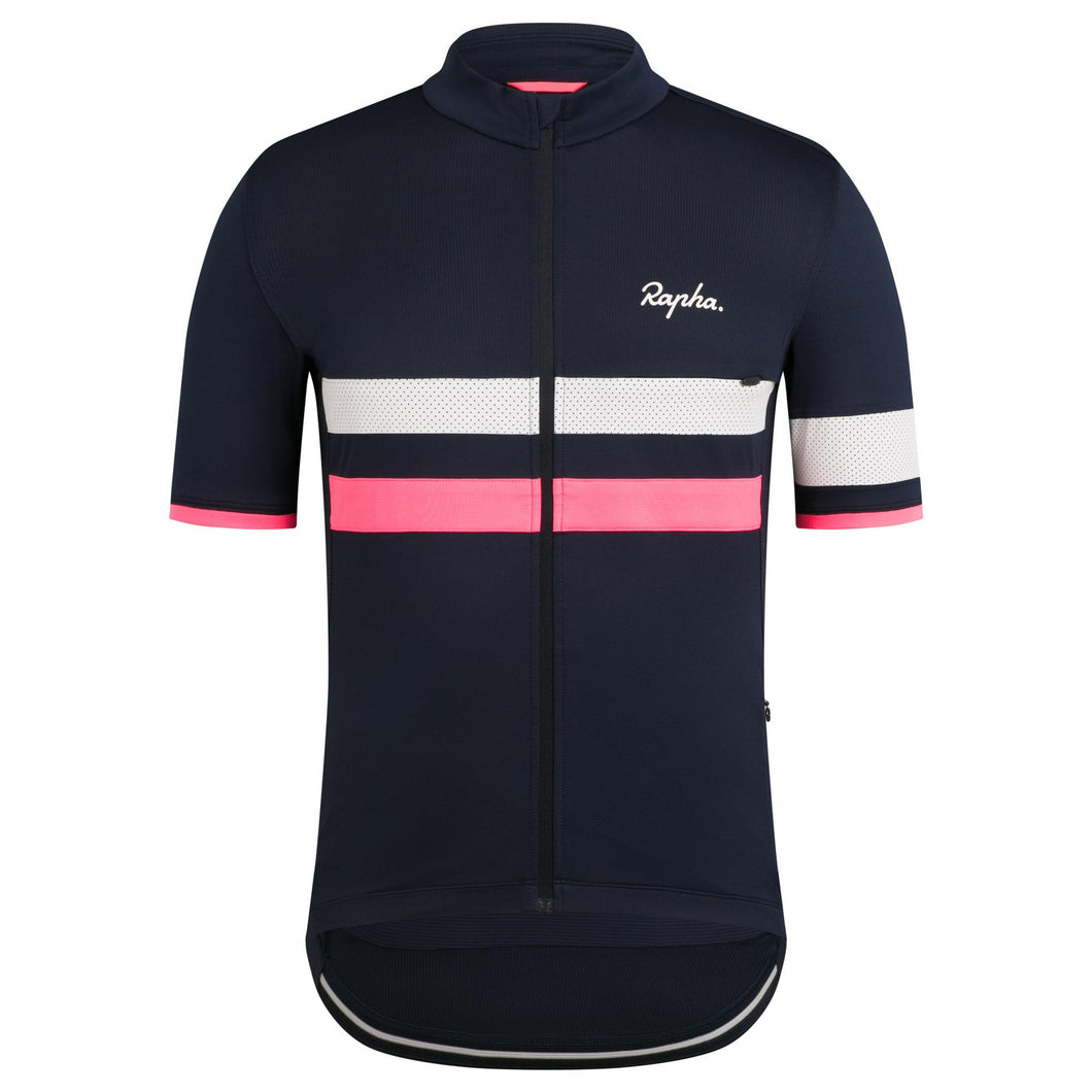 Rapha Men's Brevet Lightweight Jersey - Navy