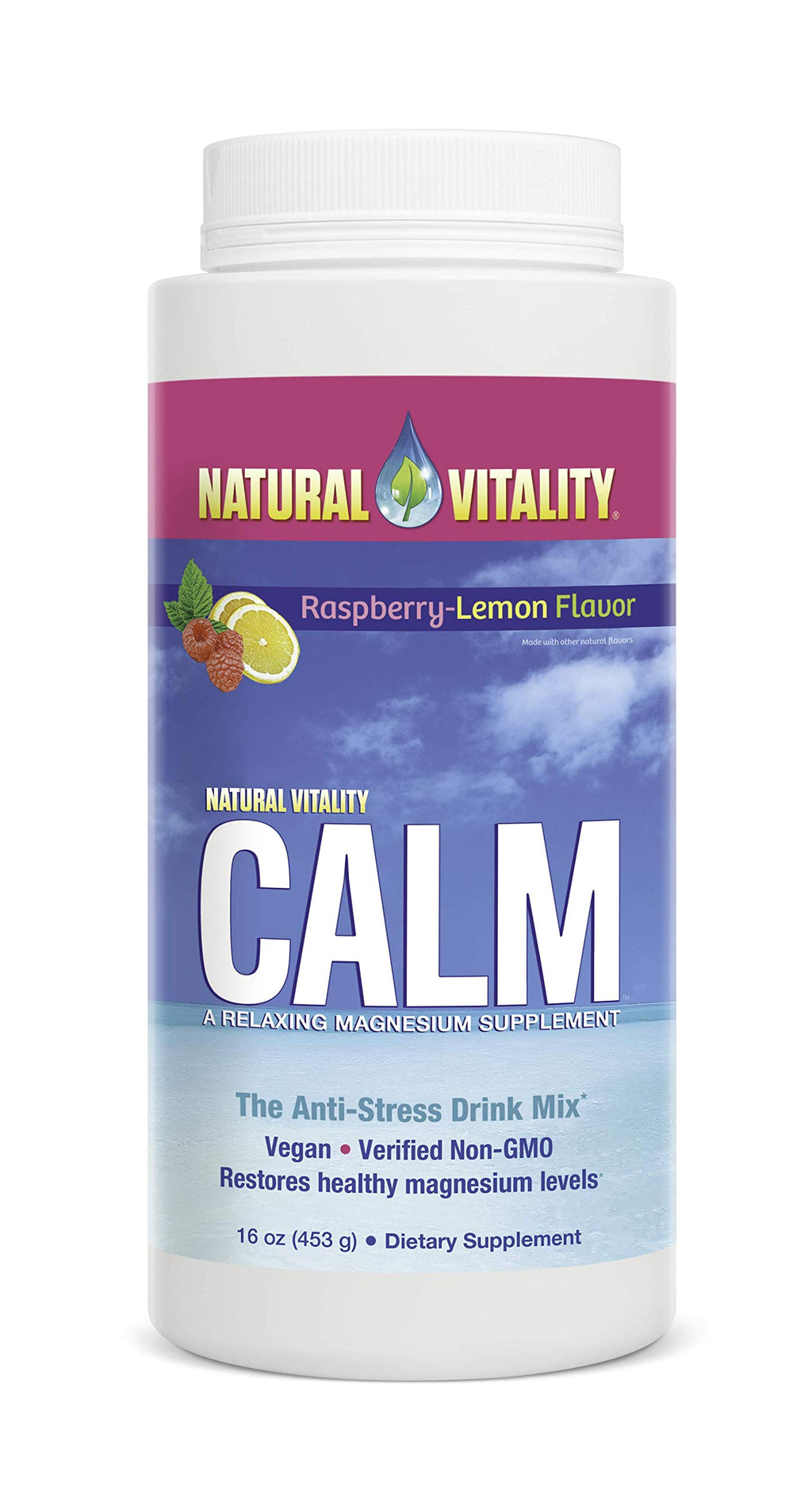 Natural Vitality® Calm, #1 Selling Magnesium Supplement, Anti-Stress Drink Mix Powder, Raspberry Lemon - 16 Ounce (Packaging May Vary) 1