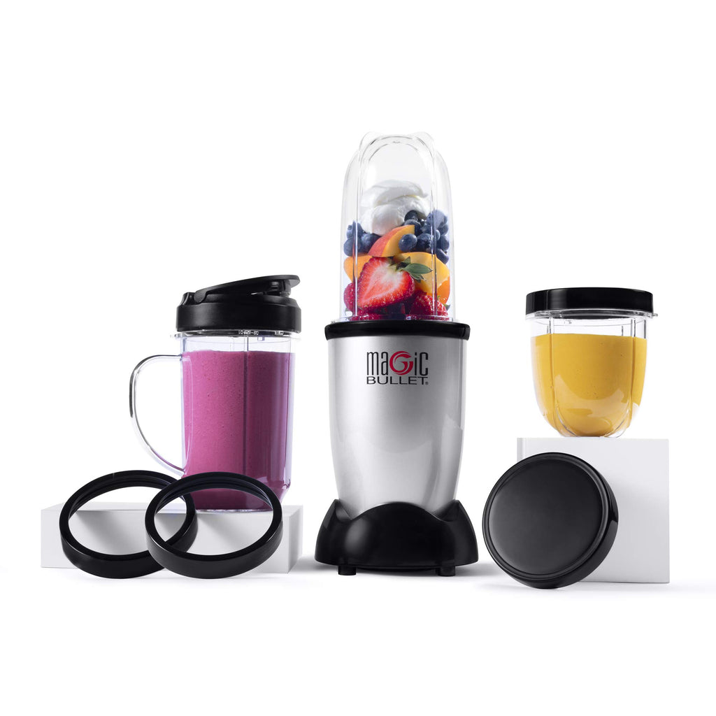 Magic Bullet Blender, Small, Silver, 11 Piece Set 1