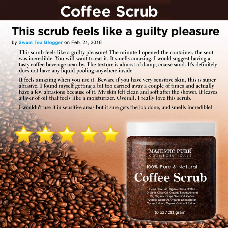 Majestic Pure Arabica Coffee Scrub 4
