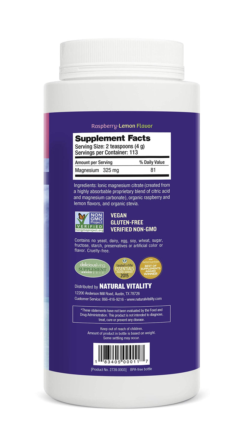 Natural Vitality® Calm, #1 Selling Magnesium Supplement, Anti-Stress Drink Mix Powder, Raspberry Lemon - 16 Ounce (Packaging May Vary) 5
