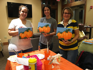 New Kent apartments clubhouse paint night west chester Pa 19380.  Group parties/classes in your home, country club, clubhouse in the Chester county pa area. We do all the work, you pick your designs, you paint.