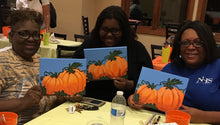 Load image into Gallery viewer, New Kent apartments clubhouse paint night west chester Pa 19380.  Group parties/classes in your home, country club, clubhouse in the Chester county pa area. We do all the work, you pick your designs, you paint.