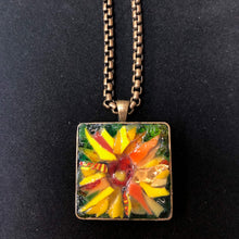 Load image into Gallery viewer, Square Sunflower Mosaic Jewelry