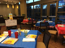 Load image into Gallery viewer, Set up of Chaddwell apartments clubhouse paint night. exton Pa 19341. Group parties/classes in your home, country club, clubhouse in the Chester county pa area. We do all the work, you pick your designs, you paint.