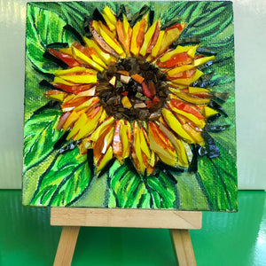 Mosaic Sunflower Mosaic Painting - Mini