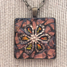 Load image into Gallery viewer, Copper Glass Flower Mosaic Jewelry