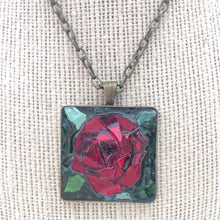 Load image into Gallery viewer, Red Rose Mosaic Jewelry