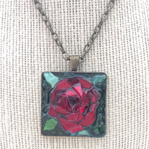 Red Rose Mosaic Jewelry