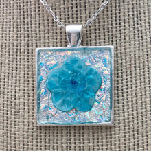 Load image into Gallery viewer, Blue Ice Flower Mosaic Jewelry
