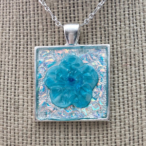 Blue Ice Flower Mosaic Jewelry