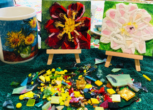 Private Mosaic Glass Painting Lesson - Our Studio - Canvas