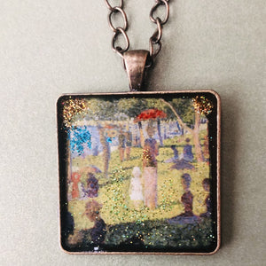 Sunday on La Grande Jatte Mosaic Jewelry
