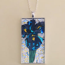 Load image into Gallery viewer, Iris Flower Mosaic Jewelry