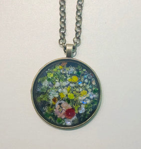 Flowers in a Vase Mosaic Jewelry