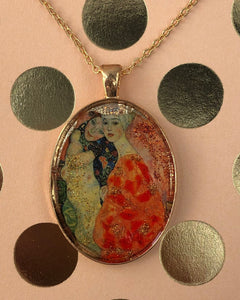 Women Friends Klimt Mosaic Jewelry