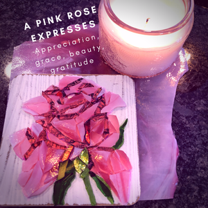 Mosaic Pink Rose - Mini