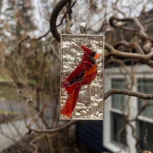 Large Cardinal Mosaic Jewelry