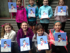 snowman - Kids camps and classes - Take a group class in our West chester Pa studio. You pick the design we do all the work. Cost vary based on products used.