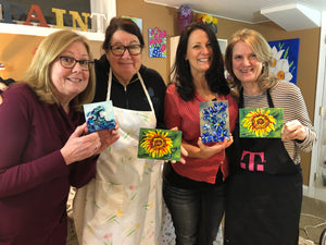 Group Mosaic Glass Painting Class - Our Studio - Canvas
