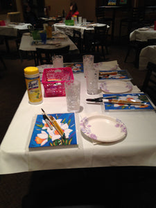 Claremont apartments clubhouse paint night 494 wharton blvd exton Pa 19341.  Group parties/classes in your home, country club, clubhouse in the Chester county pa area. We do all the work, you pick your designs, you paint.