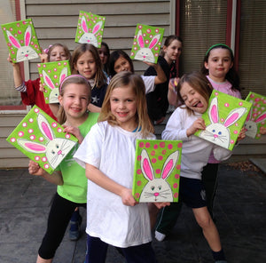 Easter bunny - Kids camps and classes - Take a group class in our West chester Pa studio. You pick the design we do all the work. Cost vary based on products used.