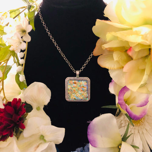 Crystal Sunflower Mosaic Jewelry