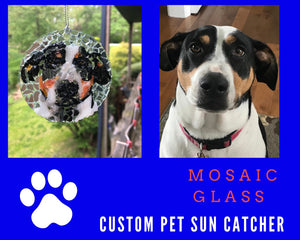 "3"" Custom Pet Mosaic Sun Catcher - Your Pet Sun Catcher"