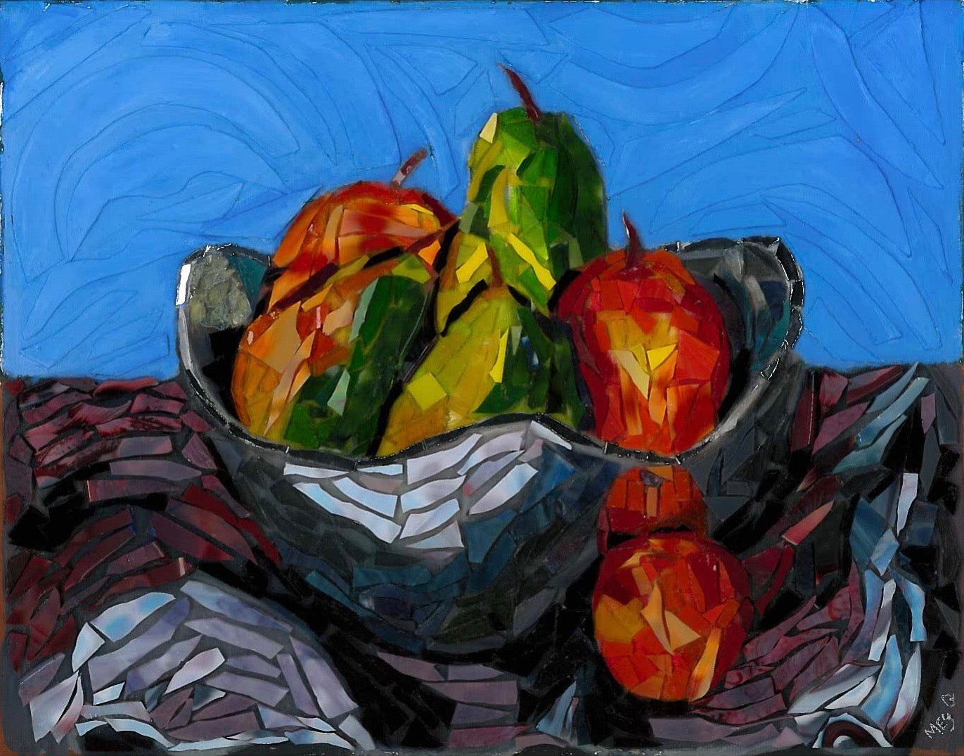 Private Mosaic Glass Painting Lesson - Our Studio - Canvas – Loving