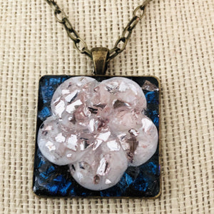 Pink Ice Flower Mosaic Jewelry