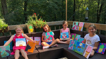 Load image into Gallery viewer, summer camps mixed media - Kids camps and classes - Take a group class in our West chester Pa studio. You pick the design we do all the work. Cost vary based on products used.