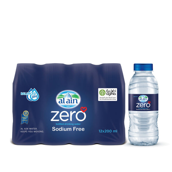 Al Ain Zero Sodium Water 200 ml x 12