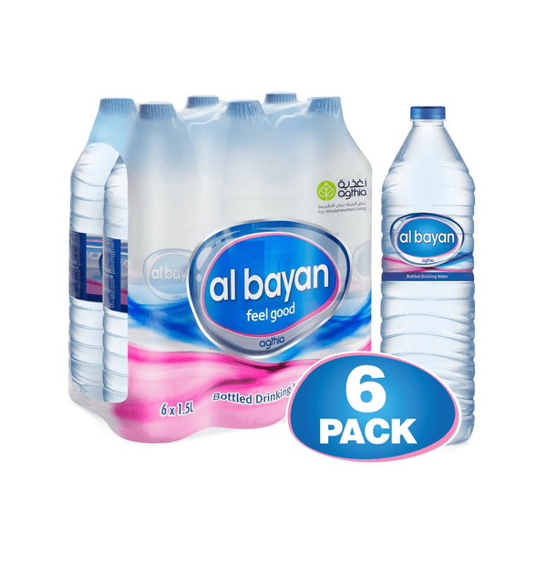 AlBayan Water 1.5 Ltr x 6 bottles