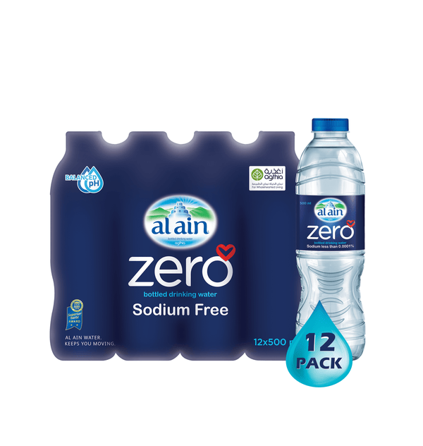 Al Ain Zero Sodium Water 500 ml x 12