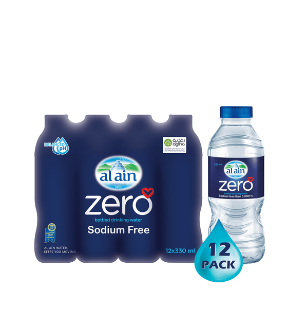 Al Ain Zero Sodium Water 330 ml x 12
