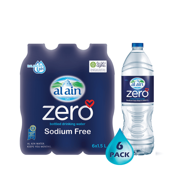 Al Ain Zero Sodium Water 1.5 L x 6 Bottles