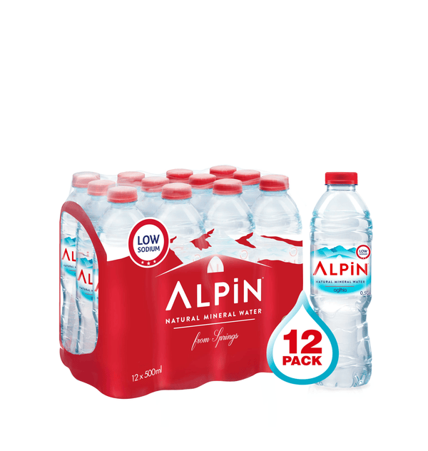 ALPIN Alkaline Mineral Water  12 x 500 ml