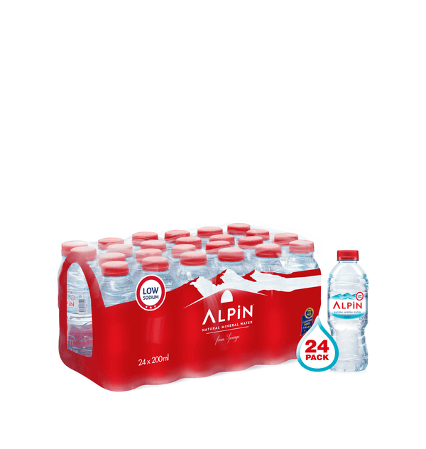 ALPIN Alkaline Mineral Water  24 x 200 ml